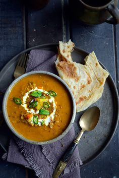 Fragrant Spiced Indian Vegetable + Lentil Soup @ From The Kitchen