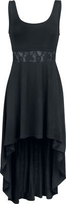 25.99e Yksinoikeudella EMP:ltä: pidätkö mustista mekoista? Black Premium by EMP:llä on juuri oikea mekko sinulle! Musta kelttityylinen mekko laskeutuu pehmeästi ja näyttää upealta.  Pehmeästi laskeutuva kelttityylinen mekko, jossa on pitsiosa rinnassa, 100% polyesteria. Etupituus on noin 81 cm ja takapituus noin 125 cm.