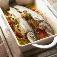 Oven broiled trout by Rivièra Maison