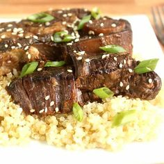 Serve these delectable Asian-inspired ribs with a helping of rice, quinoa or lettuce leaves.