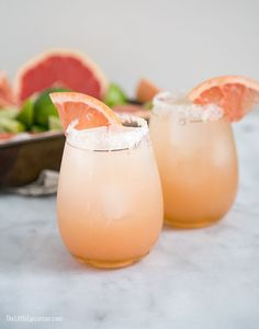Honey Paloma from The Little Epicurean (Lime juice, grapefruit juice, honey or agave syrup, and tequila! This sounds amazing!)