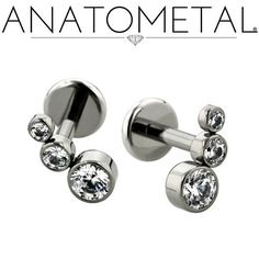 Omg i need them for my tragus! - Flat Back Labrets - ANATOMETAL - Professional Grade Body Piercing Jewelry ~ Anatometal Flat Back Labrets can be made in Steel, Titanium, and Gold. Available in the traditional 3 piece design or as a fixed back 2 piece. Dermal Jewelry, Labret Jewelry, Ear Jewelry, Cute Jewelry, Body Jewelry, Tragus Piercing Jewelry, Daith, Helix Piercings, Labret Piercing