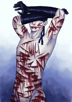 No idea if this is proper to upload here, but I'll risk it. Wish this site had a mature content filter :/  Illu is from Day one of the Goretober challenge: Lacerations. #gore #guro #eroguro #horror #blood #wound #fetish #mature #otherpw