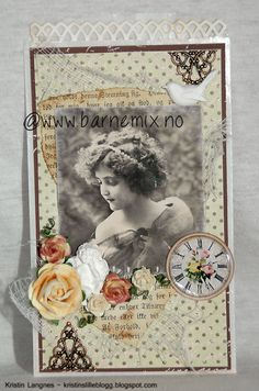 Barnemix - Posekort med vintagemotiv