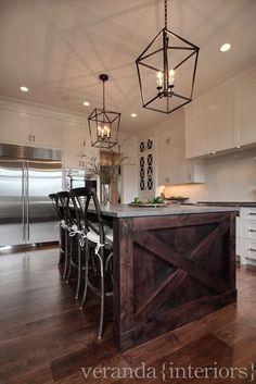 Veranda Interiors - kitchens - Madeleine Armless Counter Stool, white cabinets, white cabinetry, white kitchen cabinets, white kitchen cabin...