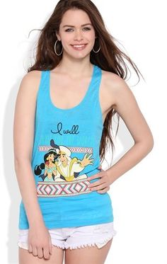 Bought this as a gift to myself! :) Deb Shops Racerback Tank Top with #Aladdin Screen