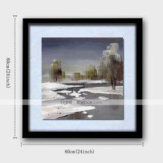lin naturel bois massif peintures cadre sans cadre peinture à l'huile paysage moderne peint à la main - EUR € 49.99