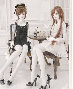 1/3 SD Unoa Zero BJD Doll Elegant Chic One piece dress with Socks set sewing crafts pdf E PATTERN in Japanese and titles in English