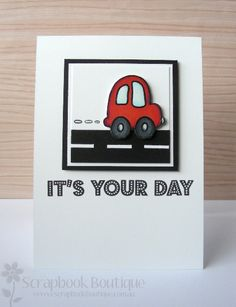 Lostinpaper - SB - It's Your Day masculine car card