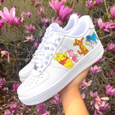 📸Another version of the Winnie the Pooh Who's your favorite character?🍯🌟 📲DM or visit the site for your own pair! (🔗in bio)✨ All Nike Shoes, Hype Shoes, Running Shoes, Zapatillas Nike Air Force, Disney Merch, Vans Shoes Fashion, Nike Shoes Air Force, Aesthetic Shoes, Custom Shoes