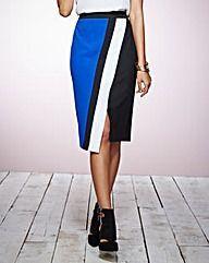 Colour Block Pencil Skirt