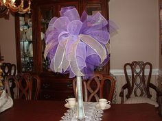 Deco Mesh Wedding Centerpiece