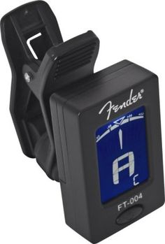 Fender FT-004 Clip-On Chromatic Tuner: With guitar, bass, ukulele, violin and chromatic modes, this clip-on tuner provides accurate tuning for a wide range of instruments.