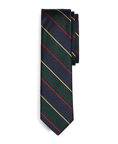 Brooks Brothers - Argyle Sutherland Repp Slim Tie