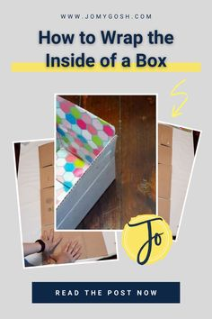 Here's how to easily wrap the inside of a box-- for gift giving or for care packages. This method is cheap, fast, and works on rectangular or square boxes. #carepackage #craft #crafting #wrapping #snailmail #deployment #christmasgifts Military Spouse, Care Packages, Diy Craft Projects, Organization Hacks, Homemaking, Sailor, Wrapping, Encouragement, Wraps