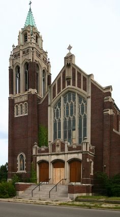 St. Agnes Catholic Church - Detroit, Michigan. Abandoned in 2006, for financial reasons, the magnificent stained glass, pews and other things were removed by the diocese. Vandalism has wrecked what remained. The campus is comprised of six buildings including a large school.