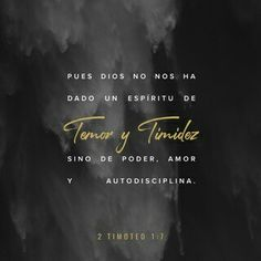 2 Timothy For God has not given us a spirit of fear and timidity, but of power, love, and self-discipline. Scripture Verses, Bible Verses Quotes, Bible Scriptures, Daily Scripture, Niv Bible, Jesus Quotes, Youversion Bible, Spirit Of Fear, Holy Spirit