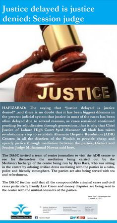 Justice delayed is justice denied: Session judge  #BarristerAlam #Islamabad #Law #Lawyer #FamilyLaw #CivilLaw #CompanyLaw #MedicalNegligence #ClinicalNegligence #CreatingAwareness #ServiceLaw #LandLaw #HighCourt #SupremeCourtPakistan #Legal #Hour #News