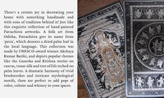 Buy Pattachitra Heritage Akshaya Kumar Bariki Hand-painted Pattachitra wall art on palm leaf, silk and paper Online at Jaypore.com