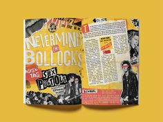 Sex Pistols Magazine Spread by Stephen Dziedziak Editorial Design Layouts, Yearbook Layouts, Yearbook Design, Yearbook Spreads, Magazine Design, Magazine Layouts, Corporate Brochure Design, Brochure Layout, Brochure Template