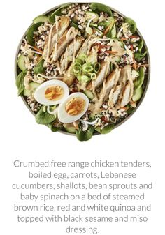 Chicken and grains salad