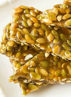 Pumpkin Seed Brittle with Vanilla Bean and Cardamom | via Brown Eyed Baker