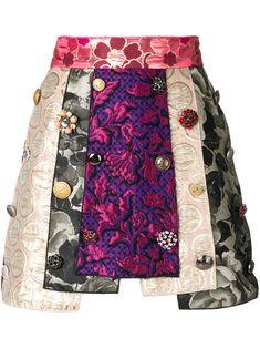 Dolce & Gabbana panelled jacquard skirt