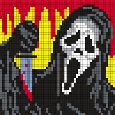 Ghostface from Scream (50 X 50 Square Grid Pattern)