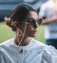 Fashion item - Eyeglasses chain - Page 9 of 42 - zzzzllee Cute Sunglasses, Sunglasses Women, Vintage Sunglasses, Fake Glasses, Glasses Frames, Fashion Eye Glasses, Sunglass Frames, Look Cool, Eyeglasses