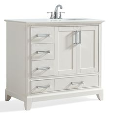 "Elise 36"" Right Offset Single Bathroom Vanity Set"