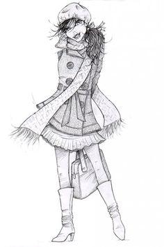 Fall fashion illustration  , Emmanuel Mauger fashion illustrator Illustrator, Autumn Fashion, Art, Fall Fashion, Illustrators, Kunst, Art Education, Artworks