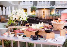 #WeddingWednesday: Food Stations | L'Auberge Del Mar