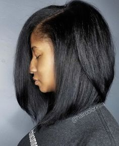 New Bob Haircuts 2019 & Bob Hairstyles 25 Bob Hair Trends for Women - Hairstyles Trends Black Girl Bob Hairstyles, Straight Hairstyles, Relaxed Hair Hairstyles, Medium Hairstyles, Types Of Fade Haircut, Brown Straight Hair, Straight Wigs, Curly Hair Styles, Natural Hair Styles