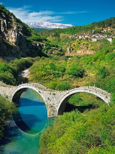10 Hidden Gems In Europe Beautiful Scenery Pictures, Beautiful Places, Old Bridges, Greece Pictures, Greek Beauty, Europe Holidays, Greek Islands, Greece Travel, Summer Travel
