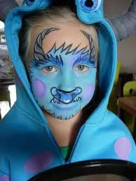 sully monsters inc face paint - Google Search