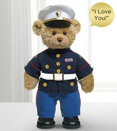 Marine Hero Bear by Build-A-Bear Workshop - I Love You Sound
