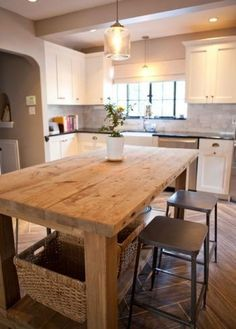 Kitchen Island Used As Dining Table fabulous old work table used as kitchen island, white stoneware