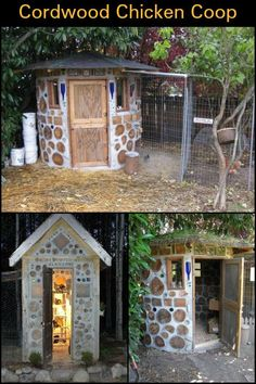 Build a Predator-Proof Chicken Coop From Cordwood For Your Chooks! #ChickenCoop #chickencoopideas