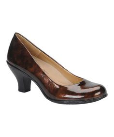 Take a look at this Bronze Patent Salude Pump by Softspots on #zulily today!
