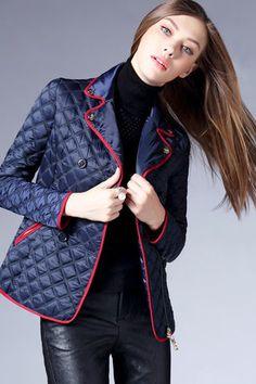 $79.99 Navy Blue Lapel Jacket