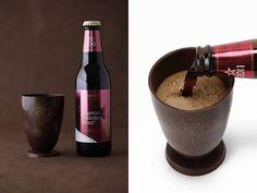 Kit da Imperial Chocolate Stout vem com cerveja e copo feito de chocolate