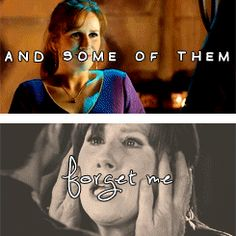 """And some of them forget me."" Donna Noble :'( *cries a waterfall*"