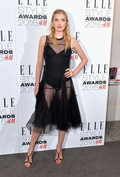 Lily Donaldson Little Black Dress - Lily Donaldson put her super-toned physique on display in a black Swiss dot dress while attending the Elle Style Awards. Lily Donaldson, Liv Tyler, St Style, Cool Style, Elle Style Awards, Hollywood Red Carpet, Love Lily, Red Carpet Event, Victoria Secret Fashion Show