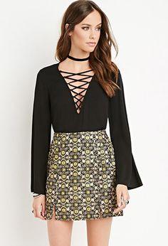 Tile Pattern Mini Skirt | Forever 21 - 2000179285
