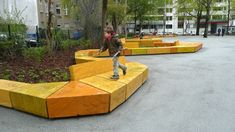 Playground and green space in Berlin-Friedrichshain #germany #berlin #Rehwaldt LA