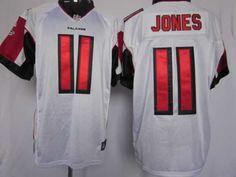 Jones Jersey: Nike Elite #11 Atlanta Falcons Jersey in white    ID:91800938    $23