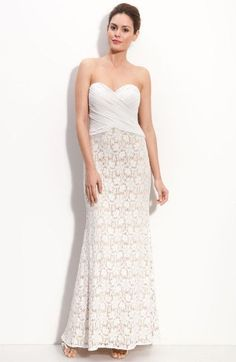 41c3567c7ad JS Collections Chiffon   Lace Strapless Gown (Petite) available at Nordstrom