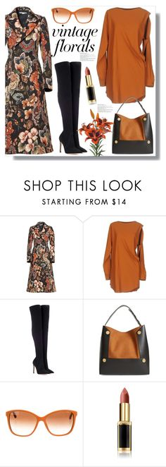 """Smell the Roses: Vintage Florals"" by queenvirgo ❤ liked on Polyvore featuring STELLA McCARTNEY, MM6 Maison Margiela, Gianvito Rossi, Dolce&Gabbana, L'Oréal Paris and vintage"