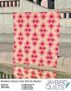 Raspberry Dessert from Skip the Borders by jaybird quilts, made w/ Quilter's Linen