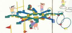 Education physique, motricité à la maternelle: Parcours avec materiel WESCO, haies, cerceaux, cônes, lien sur Picasa...
